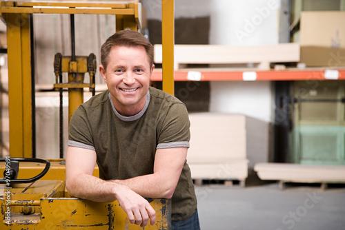 Warehouse worker Billede på lærred