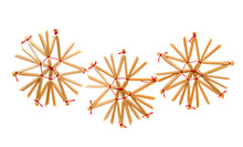 Straw Christmas Ornament, Handmade