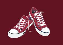 Sneaker Convers Rot Vektor