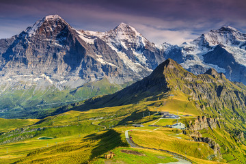 Mannlichen station,famous tourist destination,Bernese Oberland,Switzerland,Europe