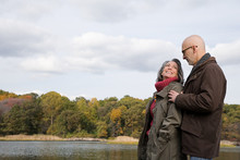 Mature Couple Near A Lake