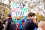 Fototapeta Wieża Eiffla - Marche pour le Climat