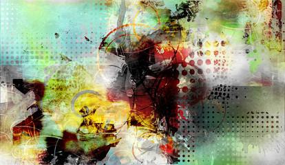 Fototapeta malerei graphik texturen