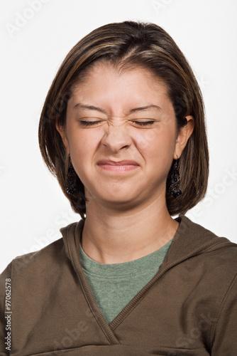Fotografie, Tablou  Portrait of young adult Caucasian woman