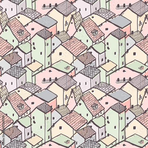 ladny-naiwny-dom-bez-szwu-wektor-wzor