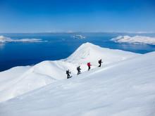 Randonee Skiing In Lyngen, Nor...