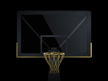 Black And Golden Basketball Ba...