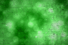 Grunge Abstract Bokeh Green Color Greeting Card Copy Space Background. Beautiful Green Colored Happy Holidays Greeting Card Illustration Background.