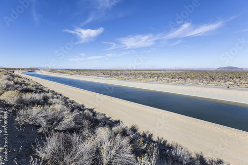 California Aqueduct near Los Angeles, California. Canvas Print