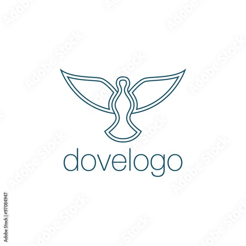 Dove and Peace Logo Vector Template - Buy this stock vector and ...