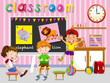 Children having fun in classroom