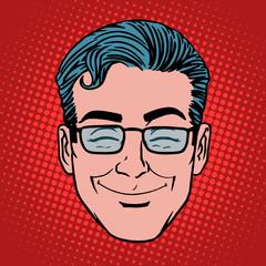 Emoji fun smile man face icon symbol