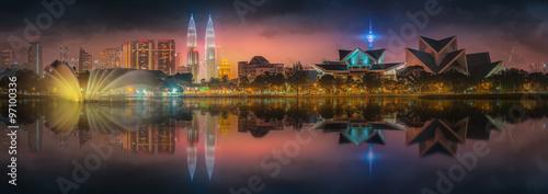 Canvas Prints Kuala Lumpur Beautiful cityscape of Kuala Lumpur skyline