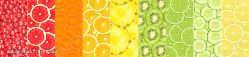 Foto op Plexiglas Vruchten collage of different fruit slices
