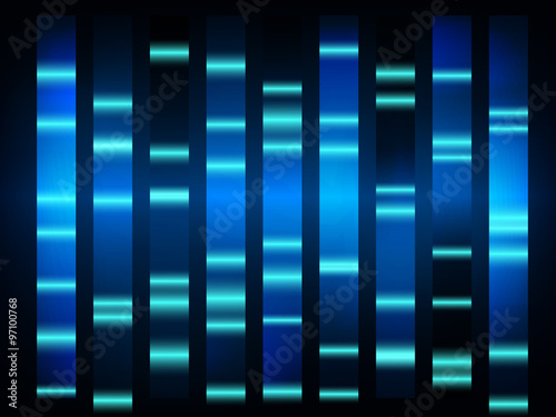 colourful medical dna results with black background Fototapet