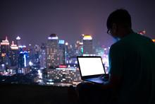 City Bokeh Background At Night