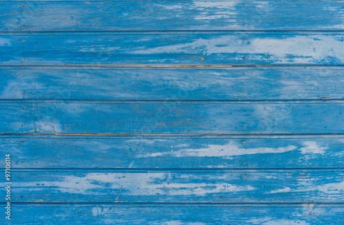 Türaufkleber Holz Blaue Bretter