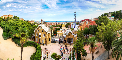 Obraz Park Guell in Barcelona, Spain