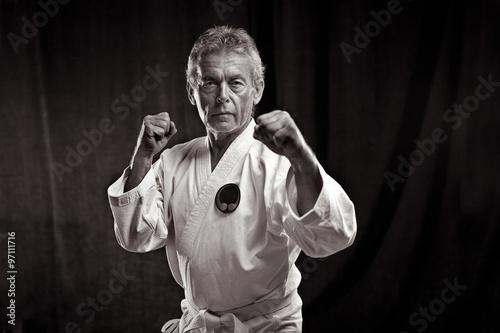 obraz dibond Portrait eines alten Kampfsportler