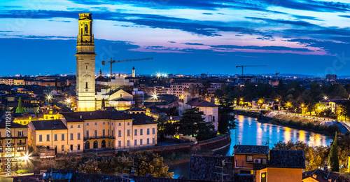 Spoed Foto op Canvas Canada Verona at sunset in Italy