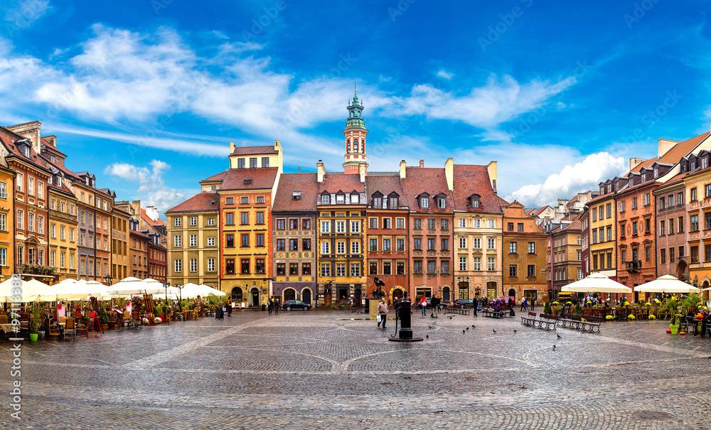 Fototapety, obrazy: Old town square in Warsaw