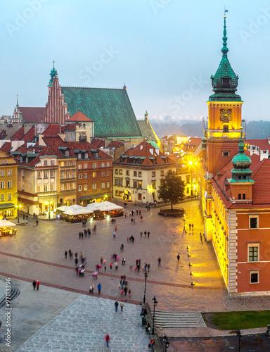Fototapeta Panoramic view of Warsaw obraz