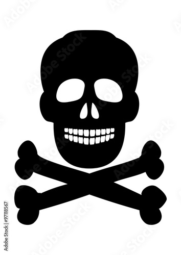 Skull And Crossbones Symbol On A White Background Vector Buy This