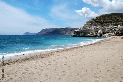 Strand am Cabo de Gata, Andalusien