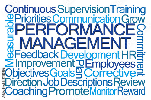 Fotografie, Obraz  Performance Management Word Cloud