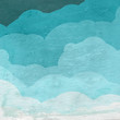 sky with clouds design on wood grain texture