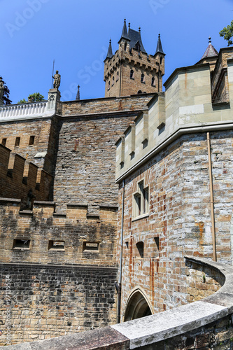 Fototapety, obrazy: Walls of Hohenzollern Castle in Germany.