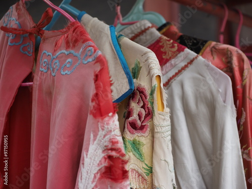 Fotografie, Obraz  Chinese traditional costumes in Mukden palace