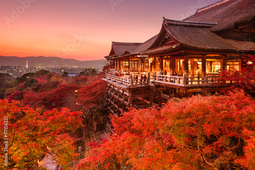 Printed kitchen splashbacks Brown Kiyomizu Temple of Kyoto, Japan