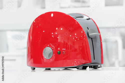 Red shiny toaster