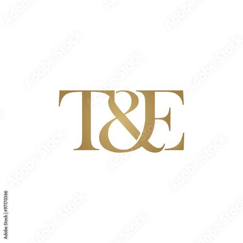T&E Initial logo. Ampersand monogram logo Poster