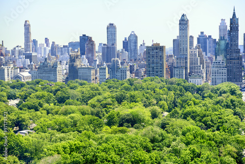 New York City skyline with Central Park Fototapet