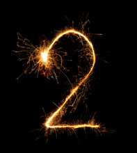 2.Digit Two Made Of Firework S...