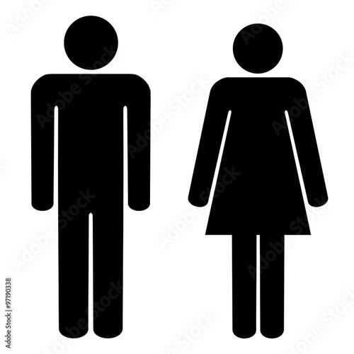 Fototapeta sylwetka mężczyzny i kobiety obraz