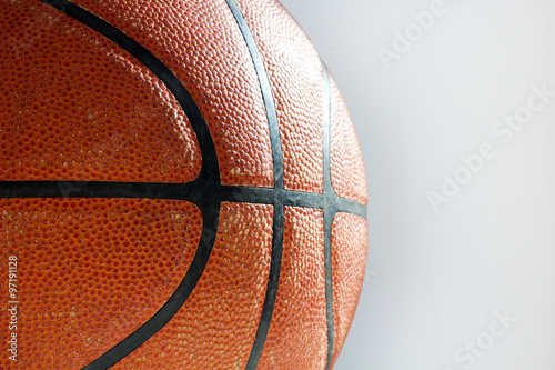Photo  texture of a basketball ball