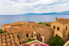 Traditional View Of Stone Houses And Sights, Greece, Europe