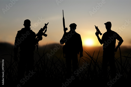 Foto op Canvas Jacht Terrorist or terrorism