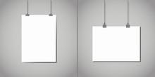 Blank White Horizontal And Ver...
