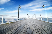 Wooden Pier In Gdynia, Orlowo, Poland