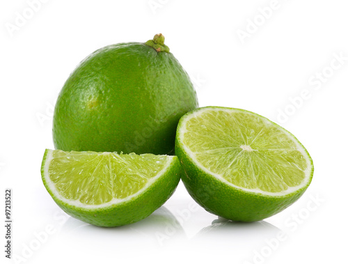 Fotografie, Obraz  lime on white background