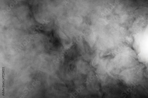 Deurstickers Rook Smoke and Fog on Black Background