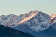 Sunset in the Alps - last rays of sun
