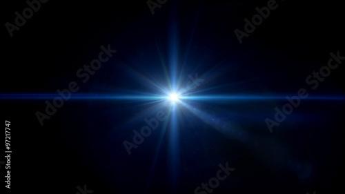 Obraz twinkle blue star lens flare center - fototapety do salonu