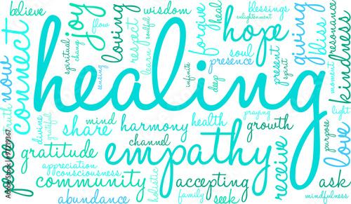 Photo  Healing Word Cloud