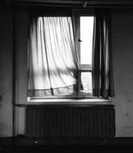 Old Window With Curtain II