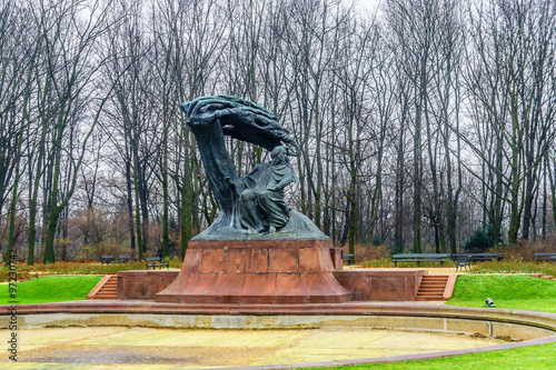 plakat Frederic Chopin monument in Lazienki Park. Warsaw. Poland.